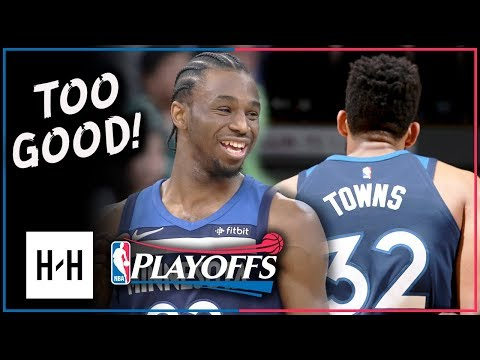 Andrew Wiggins & Karl-Anthony Towns Full Game 3 Highlights Wolves vs Rockets 2018 Playoffs - 38 Pts!