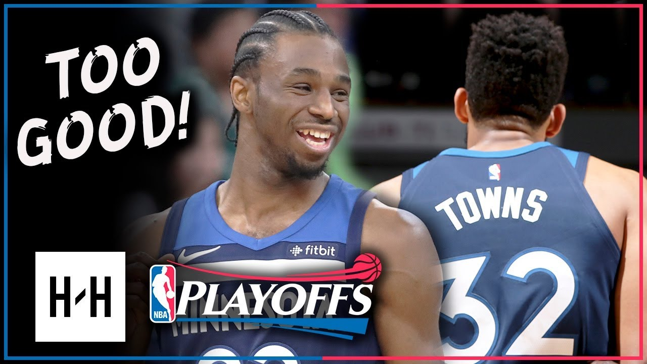 7c5c81cd137b Andrew Wiggins   Karl-Anthony Towns Full Game 3 Highlights Wolves Vs  Rockets 2018 Playoffs - 38 Pts!