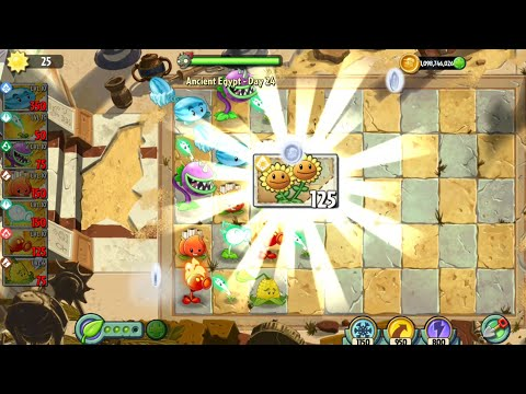Plants vs Zombies 2 Gameplay Twin Sunflower UNLOCKED