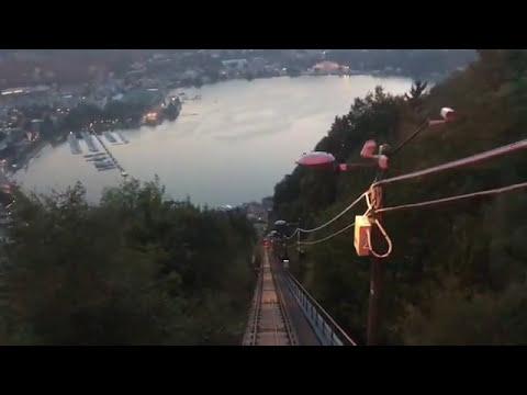 ITALIA 🇮🇹COMO 😁👊SALGO SU FUNICOLARE 😎BELLA VISTA 😁MEGLIO DELLA SVIZZERA 😁🎶DJDAVIDLACOSTEMUSICTV