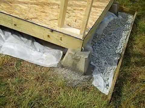 How to build a shed - building the foundation - YouTube