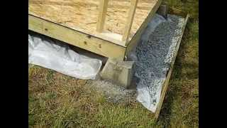 How To Build A Shed - (foundation) - Part 1
