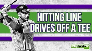 How to Hit Line Drives Off a Tee - Baseball Drills and Tips