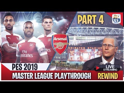 [TTB] PES 2019 - Arsenal Master League PART 4 - The Curse of the Commentator!!