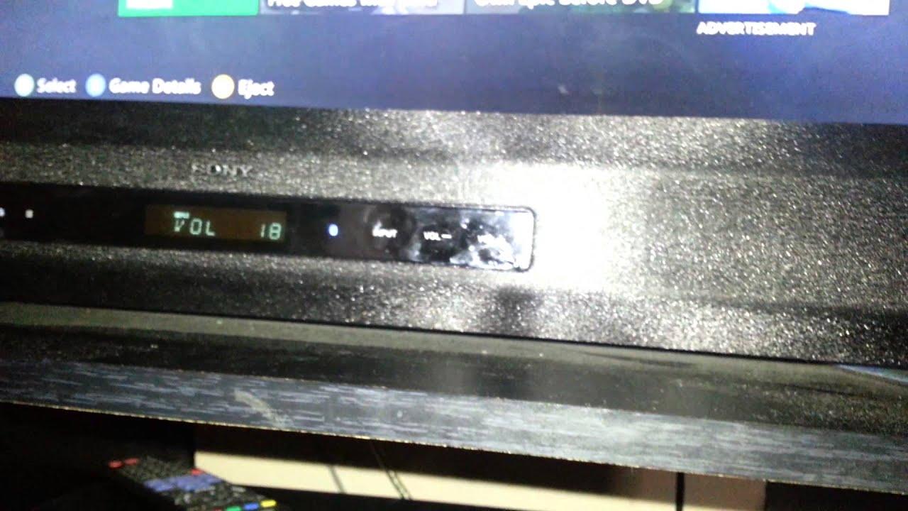 Sony HT-CT260 sound bar test - YouTube