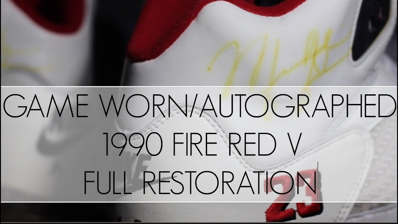 498bbda6f7c2 Game Worn and Dual Signed 1990 Fire Red 5 Full Restoration - YouTube