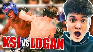 MY BROTHER WATCH KSI VS LOGAN PAUL LIVE AND DID THIS...