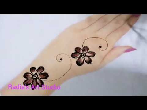 সবচেয়ে সহজ মেহেদি ডিজাঈন/ Simple Henna Design/ How to do simple henna Design