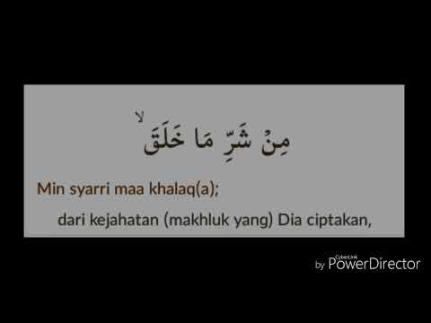 Surat Al Falaq Arab Latin Dan Terjemahannya Mp3 Video Mp4