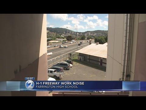 Noisy road work disrupts classes at Farrington High School