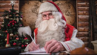 Message du Père Noël de la Laponie Finlande, Rovaniemi: Papa Noël pour les enfants Santa Claus PNP