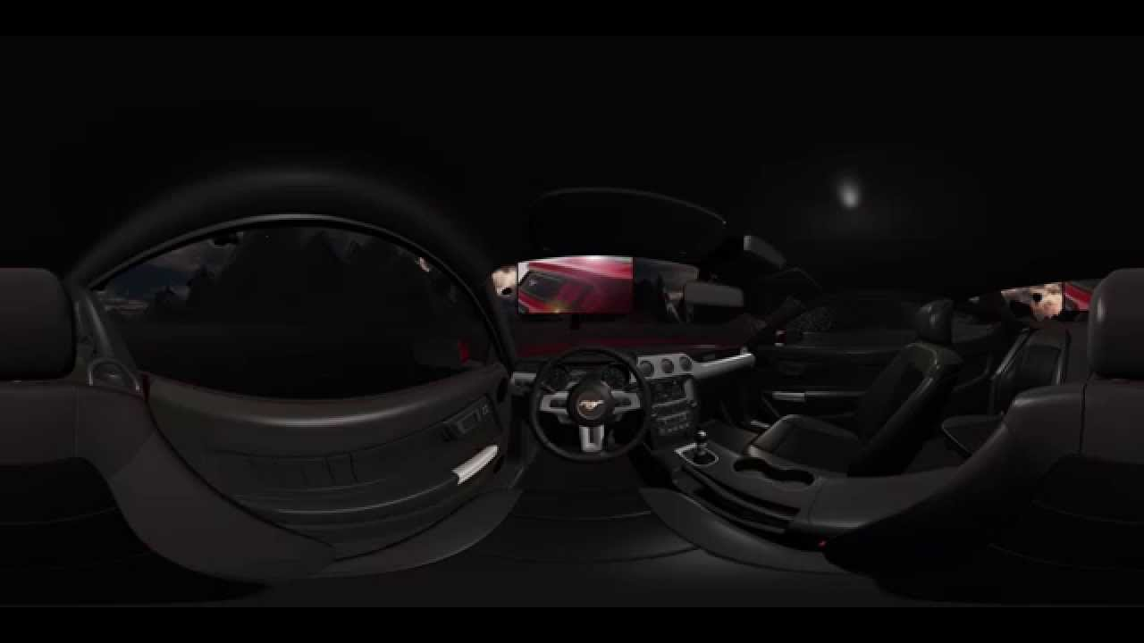 Ford mustang 2015 gt interior 360 video