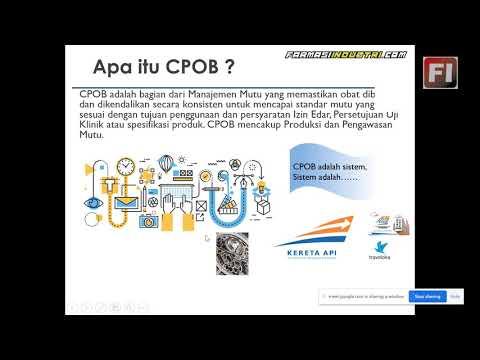 Penjelasan Mudah Cara Pembuatan Obat Yang Baik (CPOB) Industri Farmasi