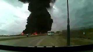 cargo boeing 747 crash dramatic footage queda de avio de carga no afeganisto