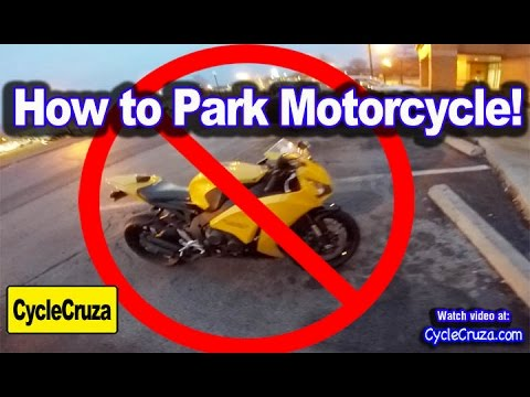 How To Park A Motorcycle Youtube