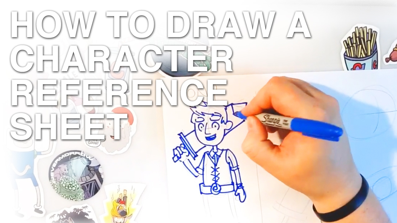 how to draw a character reference sheet youtube