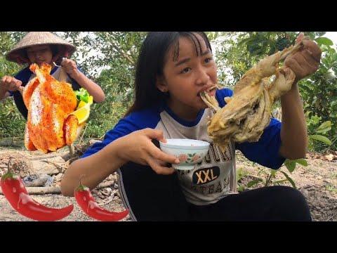 Gà Hấp Trái Cóc Chấm Muối Ớt Cay Xé Miệng