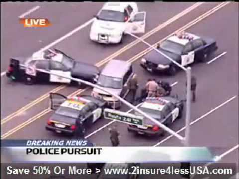 Awesome Police Chase With Crazy Woman...
