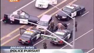 Awesome Police Chase With Crazy Woman Driver