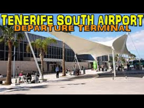 TENERIFE SOUTH AIRPORT - Departure Terminal 4K
