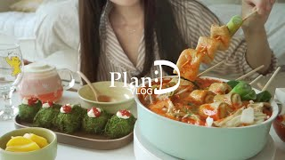 Super spicy fish cake & strawberry rice wine, soft fleece fur vest & strawberry bagel| PlanD