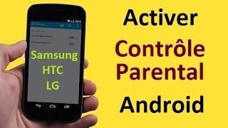 Activer le Contrôle Parental sur le téléchargement des Applications Android