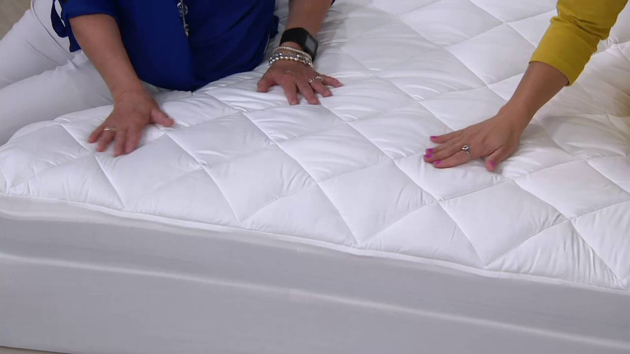 Serta Perfect Sleeper Mattress Pad With Nanotex Technology On Qvc