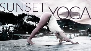 TRAVEL - SUNSET YOGA IN THE ALPS