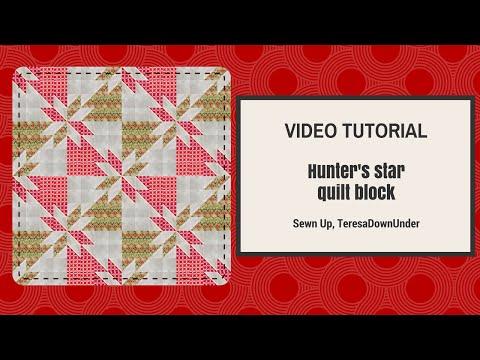 Video tutorial Hunter´s star quilt block