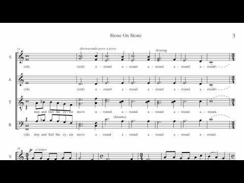 """""""Stone on Stone"""" SATB (div) a cappella contemporary choral (demo audio)"""