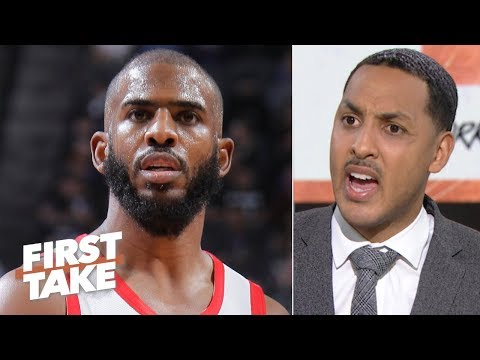 Chris Paul isnt elite anymore - Ryan Hollins walks off set | First Take