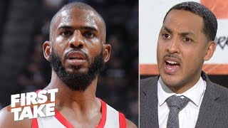 Download Chris Paul isn't elite anymore - Ryan Hollins walks off set | First Take Mp3 and Videos