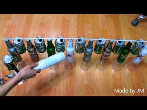 Cascading Heineken Franklin's bell & Van de graaff generator