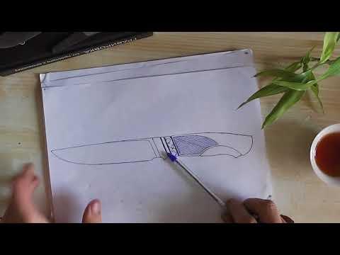 Как нарисовать эскиз ножа. Как сделать нож. Часть 1.