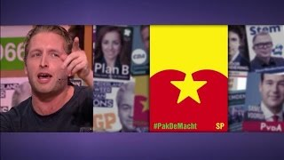 Peter Pannekoek neemt de verkiezingsposters onder de loep  - RTL LATE NIGHT