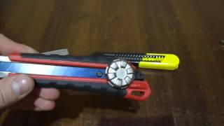Ножи канцелярские 18мм Stanley и Milwaukee сравнение