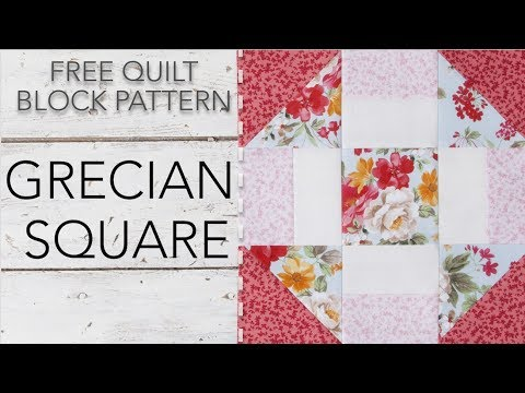 FREE Quilt Block Pattern: Grecian Square