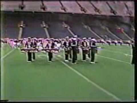 Danville High School Marching Band 1983 drumbreak