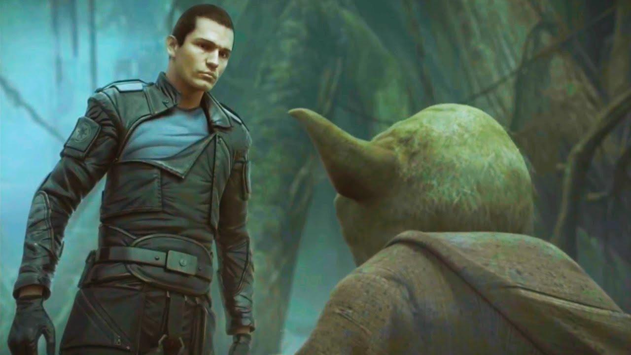 Starkiller Meets Yoda on Dagobah