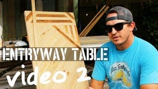 How To Build A Super Awesome Entryway Table - (video # 2/4) - Reclaimed Wood By Beachbumlivin