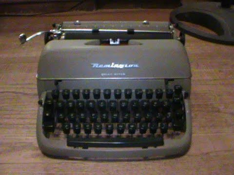 How to use your Remington Quiet-Riter Typewriter!