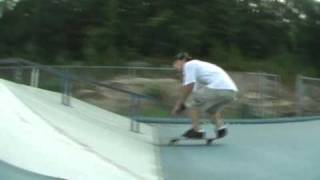 Collin Smith Skateboarding at Guilford skate park CT fall 2009