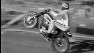 Evel Knievel 1967 jump on down town street , San Francisco