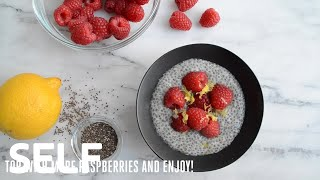 Afternoon Snack Solved: Lemon-raspberry Chia Pudding