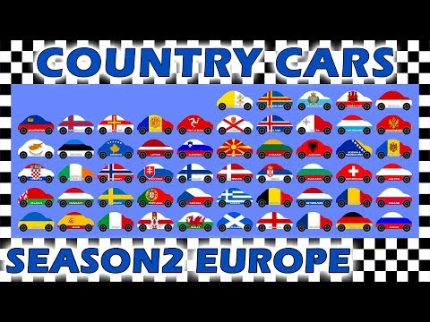 Country Cars Race Season 2 - Europe Part 1 - Who Will Win?