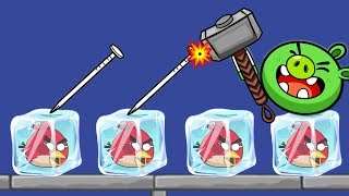 Unfreeze Angry Birds - DRAW WATER WAY TO RESCUE FROZEN ANGRY BIRDS