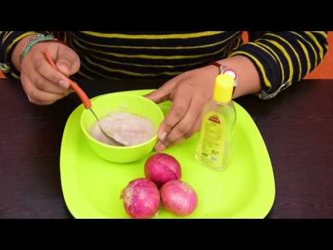 Onion Juice For Hair Loss, Dandruff and Promote Hair Regrowth : 100% Natural (In Hindi)