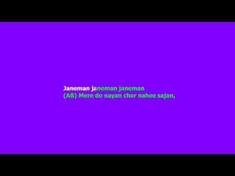 Jaane Man Jaane Man Tere Do Nayan Karaoke