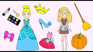 Cinderella Handmade Queit book- Paper Doll dresses up and does make up-Craft for girls thumbnail