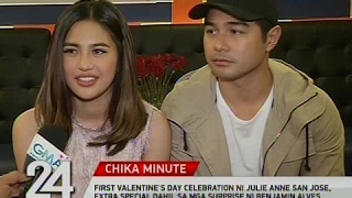 First Valentine's day celebration ni Julie Anne, extra special dahil sa mga surprise ni Benjamin
